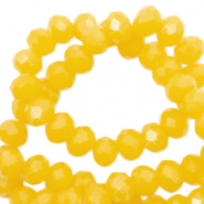 Top Facet kralen 3x2 mm disc Tuscany yellow-pearl shine coating