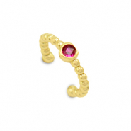 Zirkonia ear cuff Gold-red