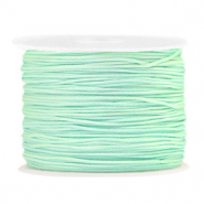 Macramé draad 1.0mm Soft turquoise green
