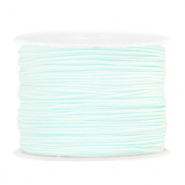 Macramé draad 1.0mm Frosted blue