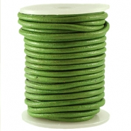 DQ Leer rond 3 mm Fern green