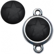 Polaris cabochon ster matt 12 mm Nero zwart