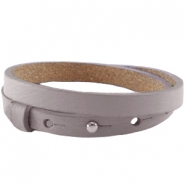Cuoio armbanden leer 8 mm voor 12 mm cabochon dubbel Taupe