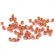 DQ knijpkralen 2 mm Rose gold plated