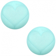 Polaris cabochon hart matt 20 mm Light turquoise