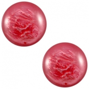 Polaris cabochon 12 mm pearl shine Jester red