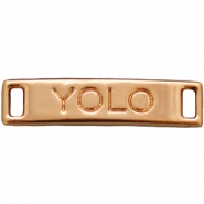"Bedel 2 ogen ""YOLO""  Light rose gold"