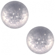 Polaris cabochon 12 mm Paipolas matt Bianco wit