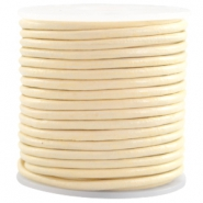 DQ Leer rond 3 mm Ivory yellow