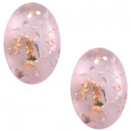 Cabochon Polaris Tresa Opaco ovaal 10x13mm Light rose shimmer gold silver