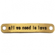 Bedel 2 ogen all we need is love Goud