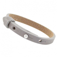 Cuoio armbanden leer 8 mm voor 12 mm cabochon Velvet taupe