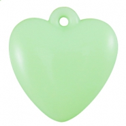 Acryl pastel hart Pastel crysolite green