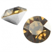 Swarovski Elements SS29 puntsteen (6.2mm) Smokey quartz brown