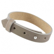 Cuoio armbanden leer large-size 15 mm voor 20 mm cabochon Taupe