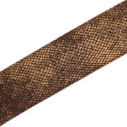 Elastisch lint Ibiza 30 mm Snake dark brown