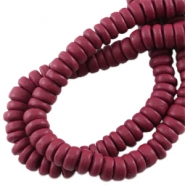 Disc kokos 8 mm Aubergine red