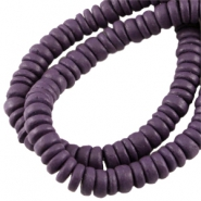 Disc kokos 8 mm Dark aubergine red