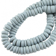 Disc kokos 4  mm Light blue grey