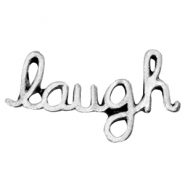 Inspirational words Laugh  Antiek zilver