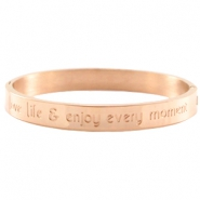 Quote armband Rose gold