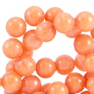 Natuursteen Jade ronde kralen 6 mm Coral orange