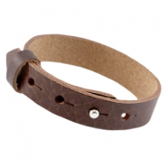 Cuoio armbanden leer large-size 15 mm voor 20 mm cabochon Fudge brown