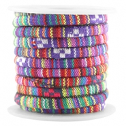 Aztec koord small 5x4mm Multicolor Paars