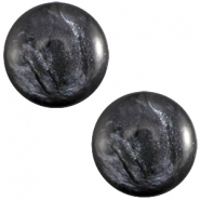 Polaris cabochon 7mm Jais Anthracite grey