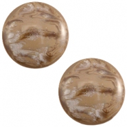 Polaris cabochon 12mm Jais Woodsmoke brown
