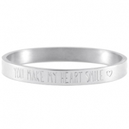 Quote armband Zilver