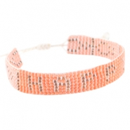 "Trendy beach armbandjes ""happy"" Coral pink"
