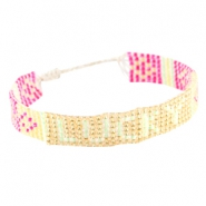 "Trendy beach armbandjes ""lucky"" Yellow gold"