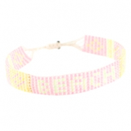 "Trendy beach armbandjes ""beach"" Roze"