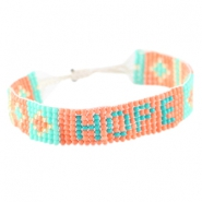 "Trendy beach armbandjes ""hope"" Coral"