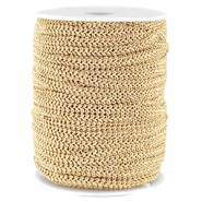 Fashion wire plat 5mm Donker beige-goud