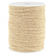Fashion wire plat 5mm Licht beige-goud
