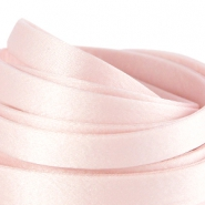 DQ zijde draad plat 10mm Light rose