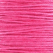 Waxkoord 1.0 mm Hot pink
