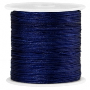 Macramé satijndraad 0.8mm Midnight blue