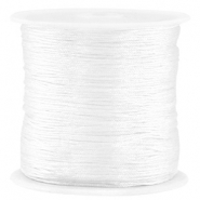 Macramé satijndraad 0.8mm White
