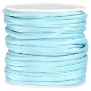 Wrap satijn koord 3mm Light aquamarine blue