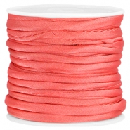 Wrap satijn koord 3mm Dark coral pink