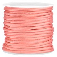 Wrap satijn koord 3mm Coral pink