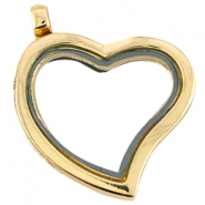 Floating Charms locket/medaillon hart Goud