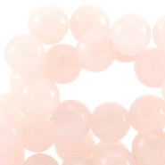 Half edelsteen kralen rond 8mm Agaat Light rose peach