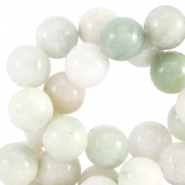 Half edelsteen kralen rond 6mm Agaat Greenish white