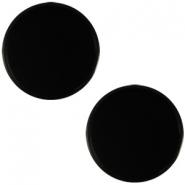 Polaris cabochon plat 12mm Mosso shiny Black
