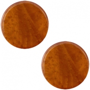 Polaris cabochon plat 20mm Mosso shiny Amber brown