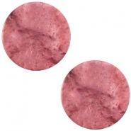 Polaris cabochon plat 20mm Mosso shiny Antique pink